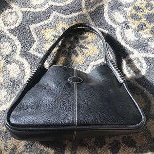 TOD'S Black Leather Purse